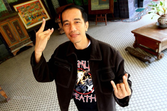 "Joko Widodo likes ""Bullet For My Valentine"" and ""Bullets for Australian Traffickers"""